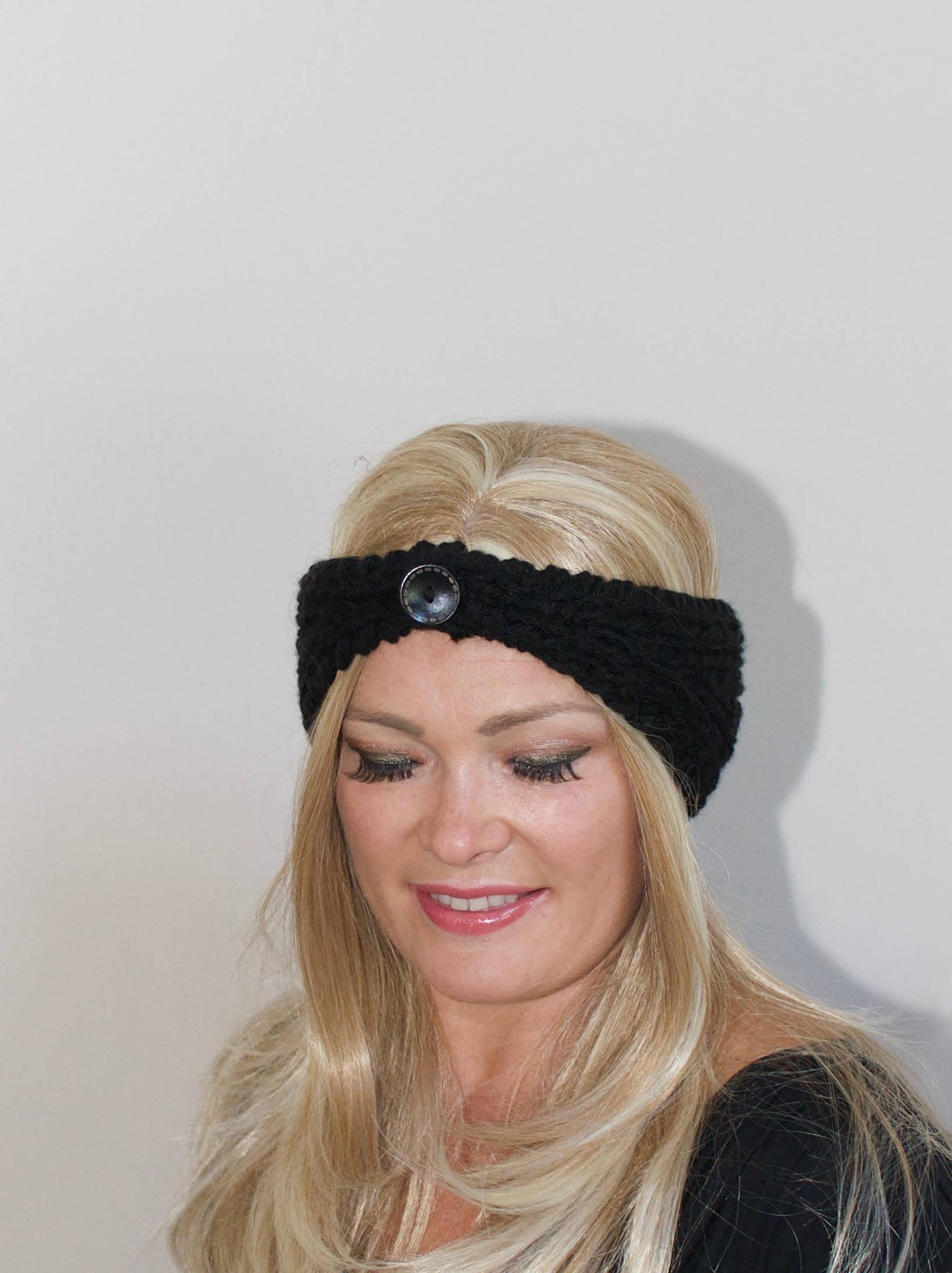 Winter Stirnband Stirnband schwarz stricken Kopftuch wählen