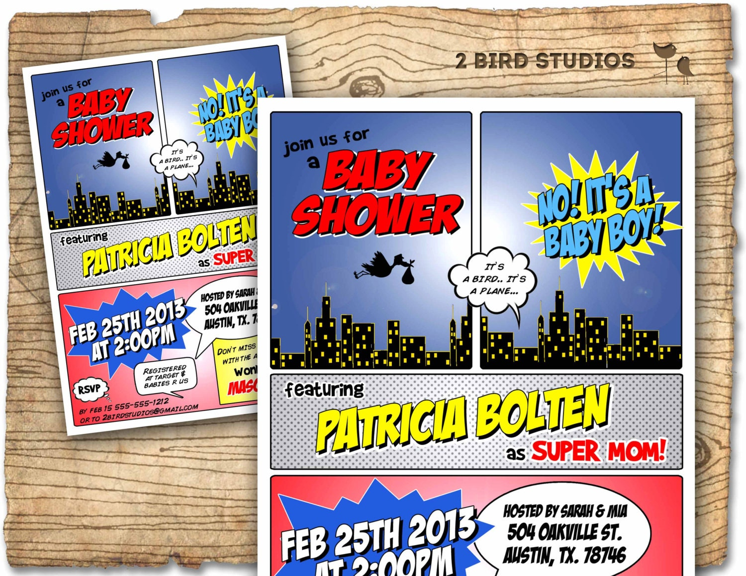 Superhero baby shower invitation Superhero invitation boy