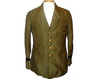 M/38 Antique Police Uniform Coat, Vintage Men's Wool Jacket, Edwardian, Medium