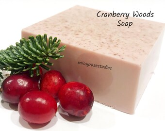 cranberry soap, melt and pour soap, hand soap bar, beauty products, hand made soap, coconut oil soap, bath soap, gift under 10, bath gift