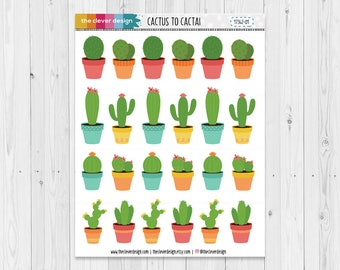 Cacti Planner Stickers | Cactus Planner Stickers | Desert Planner Stickers | 17342-01