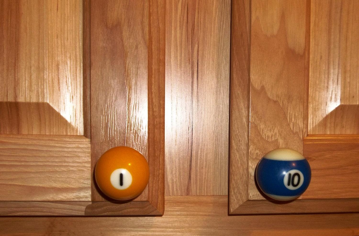 Handcrafted 1-1/2 inch Pool Ball Cabinet Drawer and Cabinet