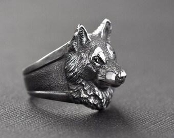 Wolf ring Wolf jewelry Werewolf jewelry Animal jewelry Wolf totem Viking wolf Men's gift Wolf head Wolves Amulet wolf