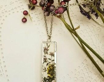 Broken China necklace. Broken China jewelry. Broken China pendant.