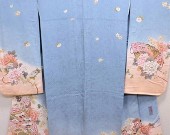 "Silk Furisode (Mimatsu original)titled ""Taoyaka""= graceful/willowy"
