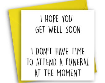Funny Get Well Card | Thinking Of You