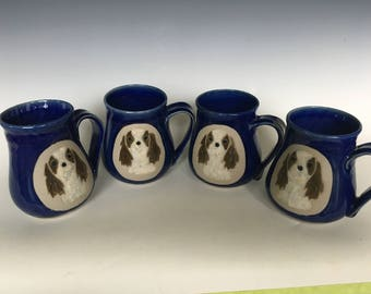 Hand Crafted Cavalier Coffee Mug Set (4)