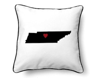 Tennessee Pillow -  Tennessee Gift - Tennessee Map - TN State Map
