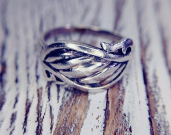 Sterling Silver Filigree Ring Band Size 6