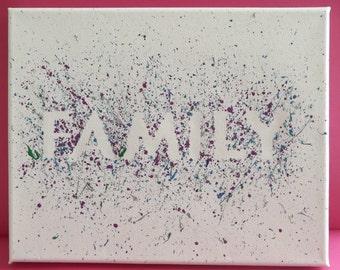 Family Paint Splatter Canvas