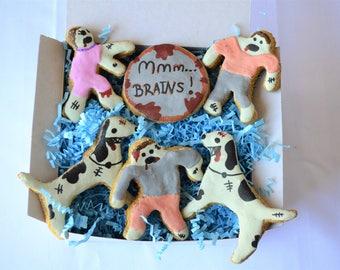 Dante's Zombie Apocalypse Cookie Box /Healthy Dog Treats /Dog Gift /Dog Cookies /Organic Dog Treats /Zombies /Dog Birthday /Halloween Gift