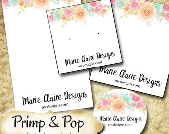 PRIMP & POP•Custom Tags•Labels•Earring Display•Clothing Tags•Custom •Boutique Card•Tags•Custom Tags•Custom Labels