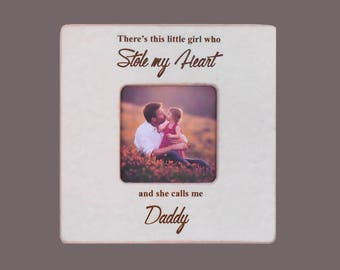 Daddy Gift-Parents Gift-Personalized Gift to Father-Father Daughter Gift-Little Girl Gift to Daddy 8x8 Overall Size