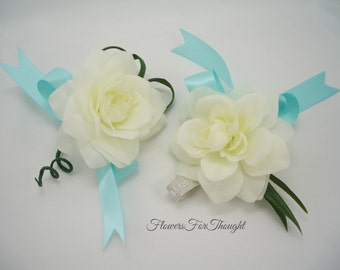Gardenia Wrist or Pin Corsage, Wedding, Prom, Special Occasion Flowers, 1 corsage only
