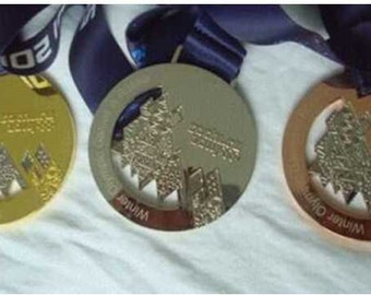 2014 Sochi Olympic Medals Set (Gold/Silver/Bronze)  with Silk Logo Ribbons !!!