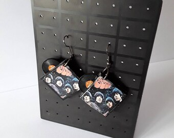 The Beatles Rubber Soul Album Earrings
