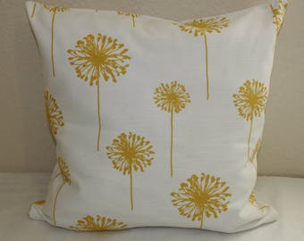 Decorative pillow covers, pillow shams Premier Prints pillow covers yellow and white.