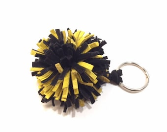 Pittsburgh Steelers Key Fob,Black and Yellow Key Fob,Iowa, Hawkeyes, Pittsburgh Penguins, Pittsburgh Pirates, Steelers, UMBC, FREE SHIPPING
