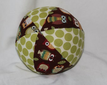 New!  Small Brown Owls Boutique Ball Rattle Toy