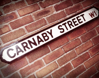 Carnaby Street Faux Cast Iron Old Fashioned Street Sign