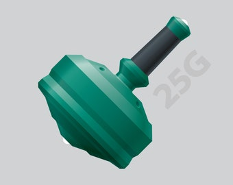 """Leap 25G with Zirconia Ceramic Tips and Grip Color Option – 1"""" Green Polymer Spin Top"""