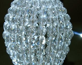 Petite Swarovski CRYSTAL Beaded Light Bulb Cover Chandelier