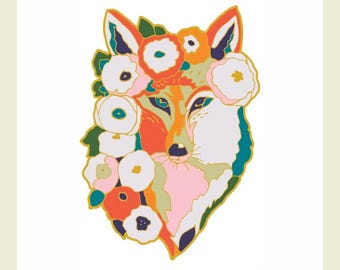 Limited Edition Fox Enamel Pin by Jenlo