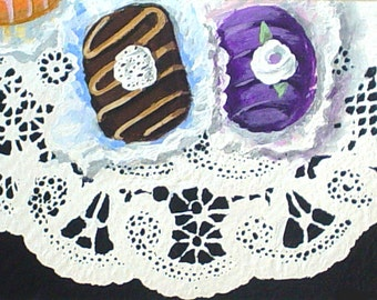 Original Painting * ACEO Small Art Format * FANCY CANDY * Art By Rodriguez