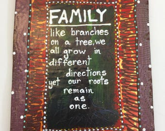 Inspirational Quote ,FAMILY,ceramic Tile,Home decor,Cute saying