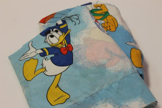 Vintage Disney Characters TWIN Bed Sheet SET