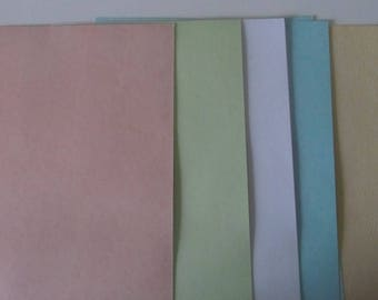 Set of 10 inch sheets of parchment - A4 size
