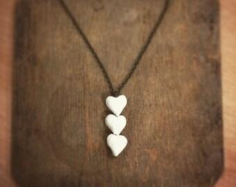 Porcelain Hearts Necklace