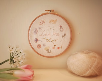 full kit | hand embroidery kit | embroidery kit | diy embroidery | diy embroidery kit | embroidery pattern | Love me embroidery