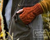 Fingerless Mitten Knitting Pattern, Fingerless Gloves PDF Pattern, Digital Download - Aspen Mittens Pattern