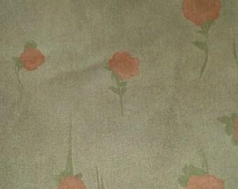 Lightweight linen schoko with roses