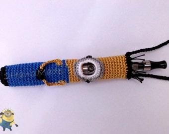 Crochet Minion Ego Ecig Electronic Cigarette Vaporizer Holder Lanyard Tube Belt Case Lava Provari Vaping Necklace Cotton Funny Amigurumi