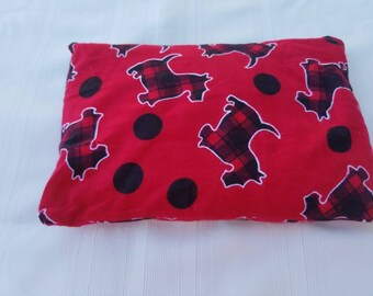Scottie Dog Heating Pad - Stress Relief - Microwave Heating Pad - Flax Seed Heating Pad - Pain Relief - Heat Pack
