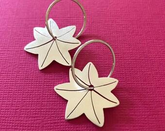 Okina Ha Earrings in Sterling Silver