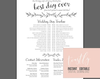 wedding timelines day of