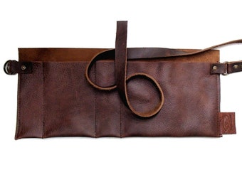 Leather Apron, waist apron, leather artist apron, art tool holder