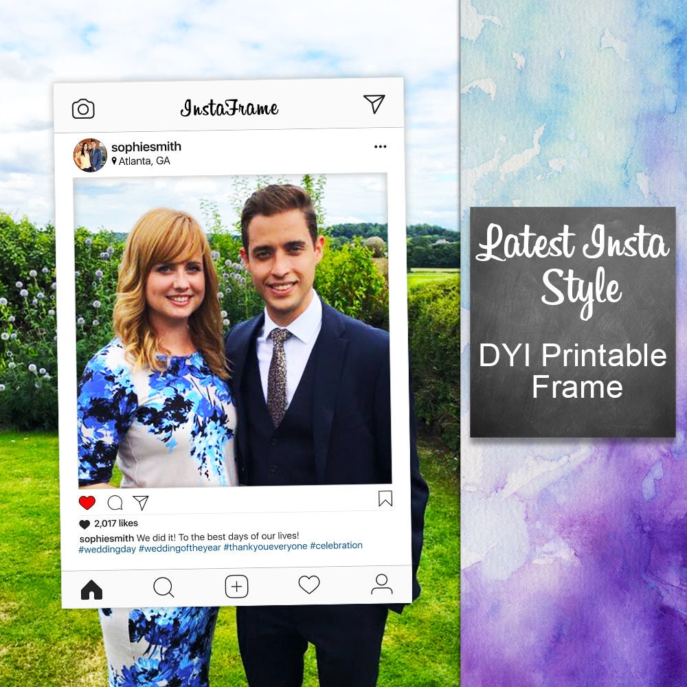 Instagram Frame DYI / Photo Booth Prop / Graduation Prom