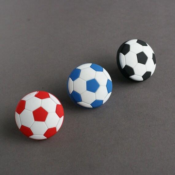 Kinder Kommode Schublade Knöpfe zieht Griffe Fußball Fußball