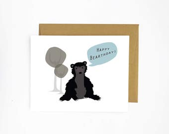Happy Bear-thday - Card