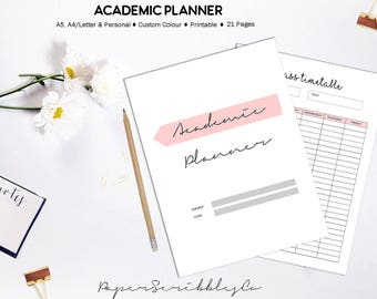 College Planner, Academic Planner, Student Planner, 2018 Student Planner, Study Planner, College Planner, School Planner, Printable Planner