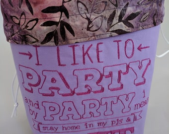 I Like to Party: medium size project bag