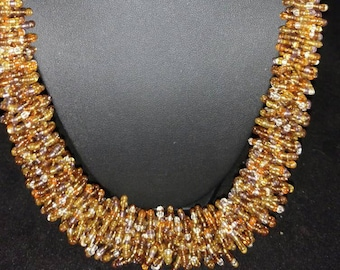 CLEARANCE * Twisty Sis Gold Seed Bead Necklace