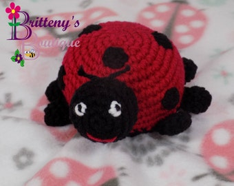 Baby Lovey Crochet Baby Lovey Crochet Plush Lady Bug Baby Fleece Lovey Baby Security Blanket Baby Snuggle Blanket Baby Shower Gift