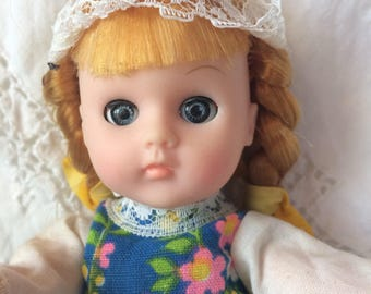 """Vogue 8"""" Ginny doll, Dutch #1837, """"From Far Away"""" collection, little dutch girl, collectible dolls, 1970's"""