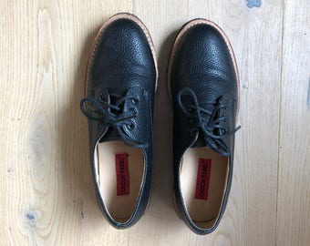 Womens Black Oxford Lace Up Shoes
