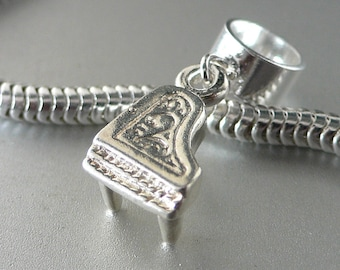 BABY GRAND PIANO Sterling Silver Music Charm Fits All Slide On Bracelets